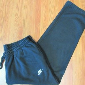 NIKE Mens COTTON SWEATPANTS/ ATHLETIC PANTS BLACK